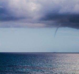 Waterspout off of Isla Mujeres, Mexico